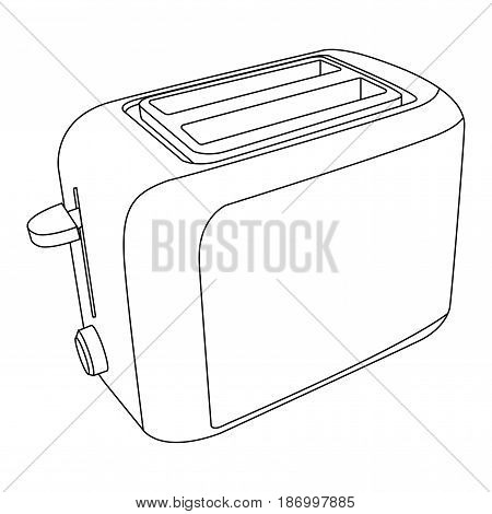 Toaster icon. Vector illustration isolated on white background