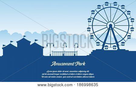 Scenery amusement park style background vector art