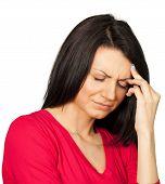 Woman caucasian sick ailing headache migraine female poster
