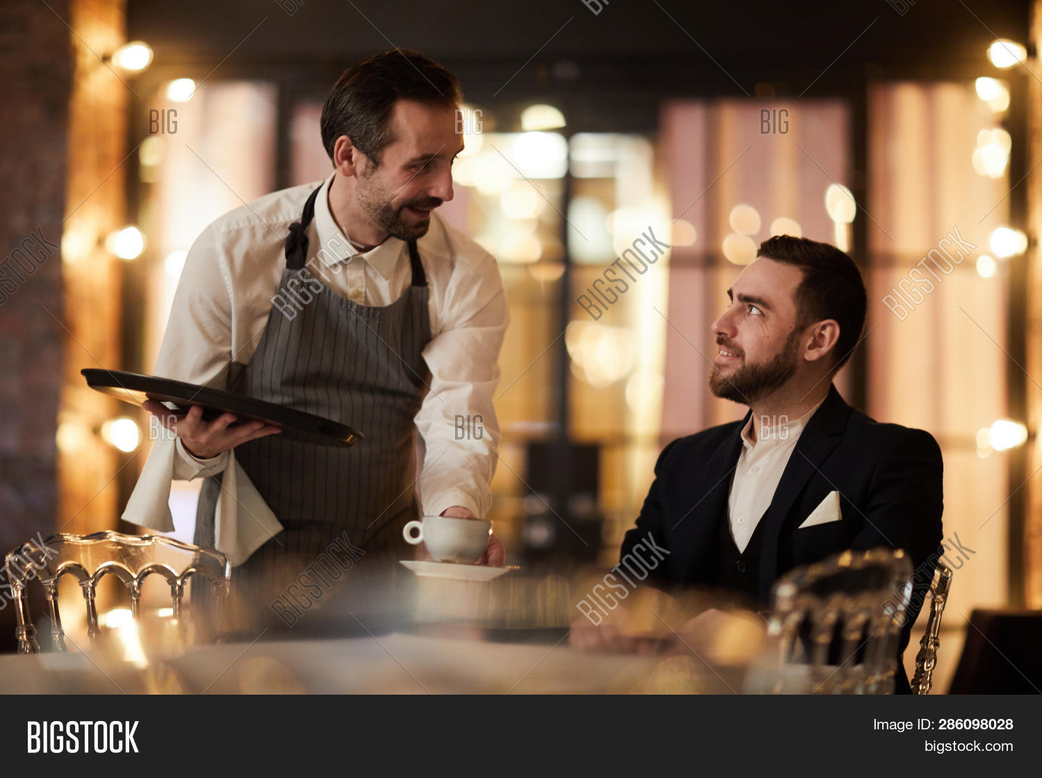 Portrait Mature Waiter Image Photo Free Trial Bigstock