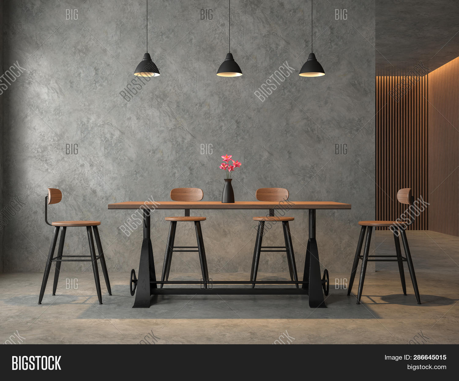 Loft Style Dining Room Image Photo Free Trial Bigstock