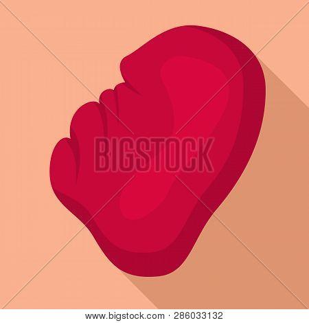 Human Spleen Icon. Flat Illustration Of Human Spleen Vector Icon For Web Design