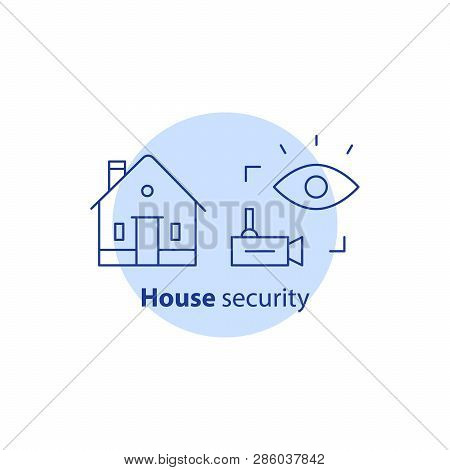 Home Security Service, House Video Camera Surveillance, Alarm Guard System, Robbery Prevention, Intr