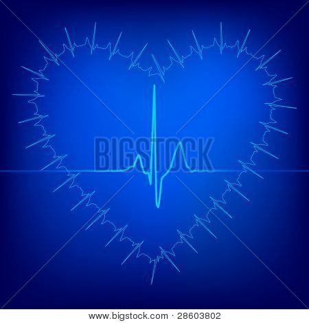 heart beat background, vector illustration