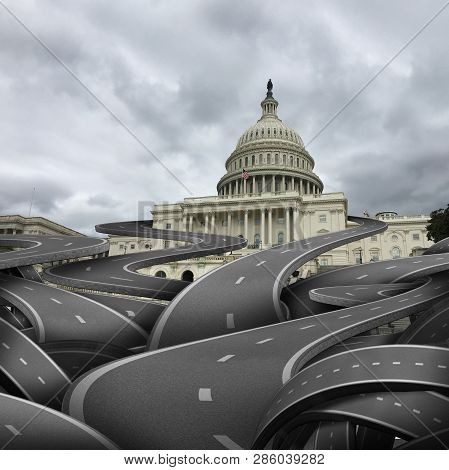 Usa Government Confusion And United States Politics Problem And American Federal Legislation Trouble