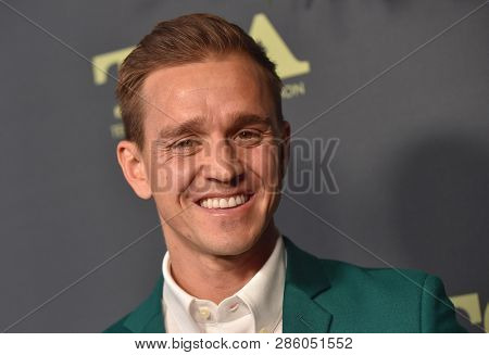 LOS ANGELES - FEB 06:  American Soccer Player Stuart Holden arrives for the FOX Winter TCA 2019 on February 6, 2019 in Los Angeles, CA