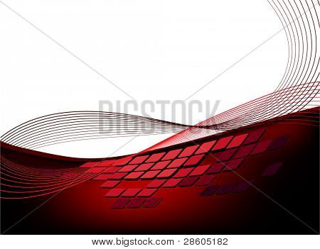 abstract red background with geometric element