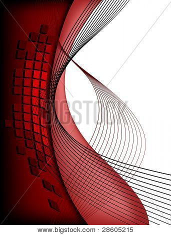 Red urban background