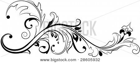 Vector floral ornament