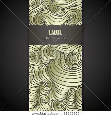 Golden doodle label with space for Your text poster