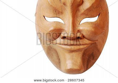 Wood mask isolated