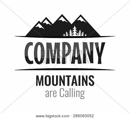 Caption Mountains Are Calling And Space For Company Name