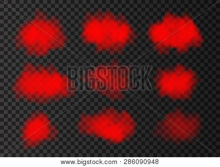 Red Smoke Cloud Vector & Photo (Free Trial) | Bigstock
