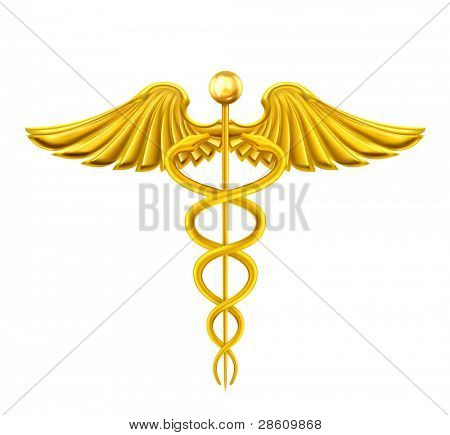 Golden Caduceus, vector