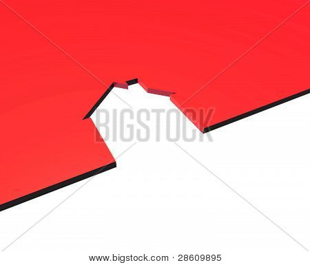red house cut out