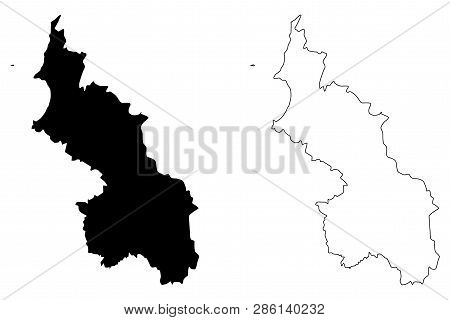 Sucre Department (Colombia, Republic of Colombia, Departments of Colombia) map vector illustration, scribble sketch Department of Sucre map poster