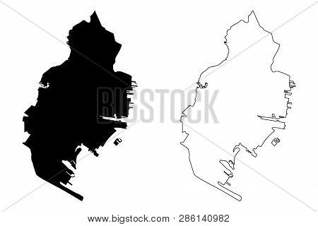 Jersey City (united States Cities, United States Of America, Usa City) Map Vector Illustration, Scri