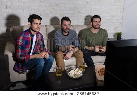 Best Buddies Hanging Out Together To Watch Blockbuster Movie At Night