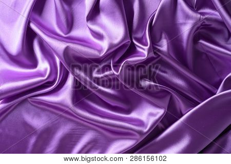 Texture, Background. Template. Silk Fabric Violet, Violet Silk Drapery And Upholstery Fabric From Th