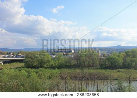Furano Line Of Countryside Of Japan, Asia.