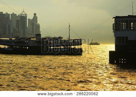 Ferry Boat At Kowloon Island.hk