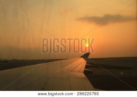 The Flight In Hong Kong International Airport