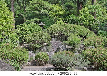 At Famous Kibitsu Jinja Shrine In Okayama.
