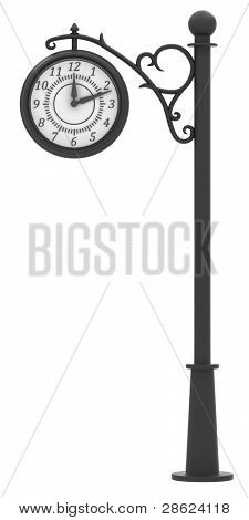 Street clock in the old style