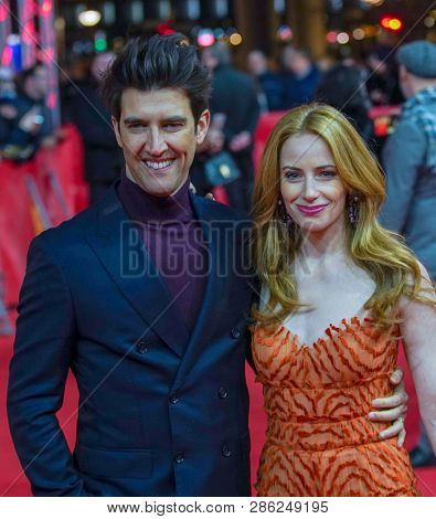 Guy Nattiv and Jaime Ray Newman attend the 'Skin' premiere during the 69th Berlinale International Film Festival Berlin at Zoo Palast on February 11, 2019 in Berlin, Germany.