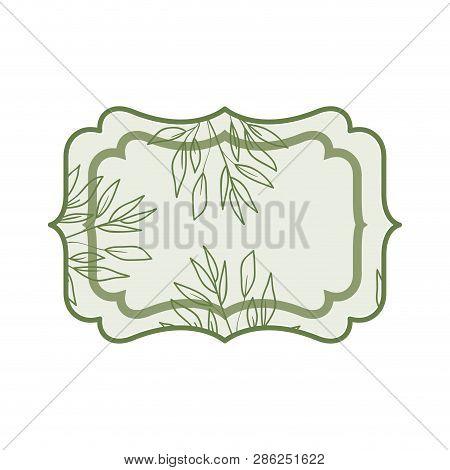 Elegant Frame Isolated Icon Vector Illustration Desing