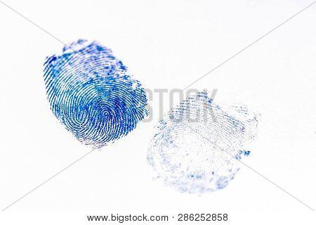 The image of fingerprints on a paper