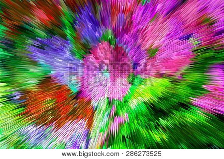 The Best Floral Extrusion Background For Your Design. Floral Background Abstraction Pyramid. Beautif