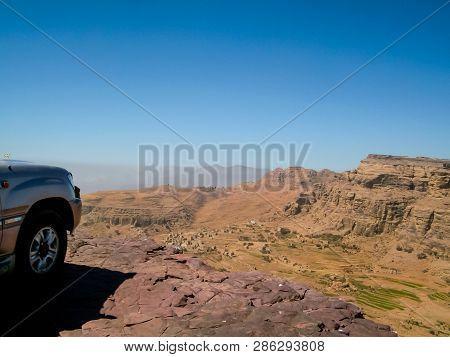 Desert In Yemen, The Nature Of The Desert Of The Middle East.
