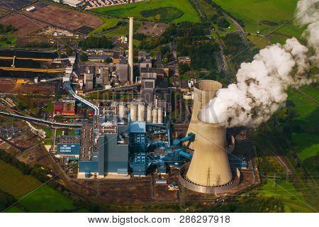 Aerial View, Kraftwerk Westfalen Power Plant, Rwe Power, Coal Power Plant, Former Nuclear Power Plan