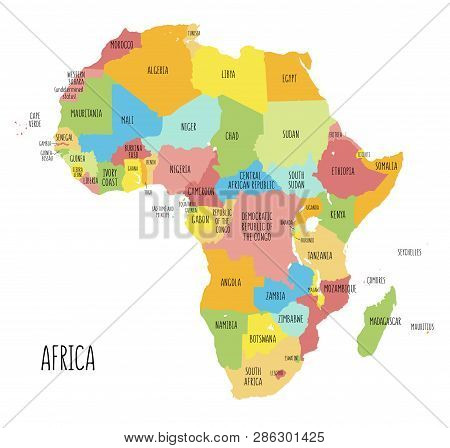 map of africa with labels Vector Political Map Vector Photo Free Trial Bigstock map of africa with labels