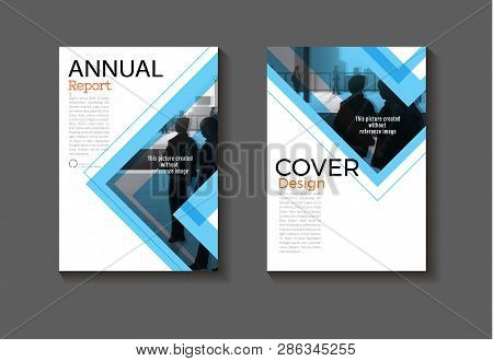 Modern Blue  Abstract Layout Background Modern Cover Design Book Cover Brochure Cover  Template,annu