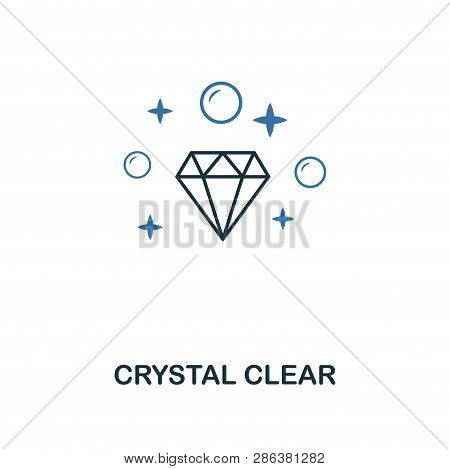 Crystal Clear Icon. Creative Two Colors Design From Cleaning Icons Collection. Ui And Ux Usage. Illu
