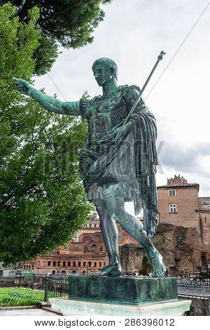 Bronze Statue Of The Roman Emperor Augustus Caesar (aka Gaius Octavius/ Octavian/ Gaius Julius Caesa