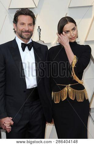 Bradley Cooper and Irina Shayk at the 91st Annual Academy Awards held at the Hollywood and Highland in Los Angeles, USA on February 24, 2019.