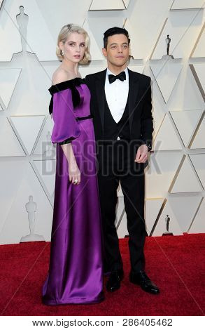 Lucy Boynton and Rami Malek at the 91st Annual Academy Awards held at the Hollywood and Highland in Los Angeles, USA on February 24, 2019