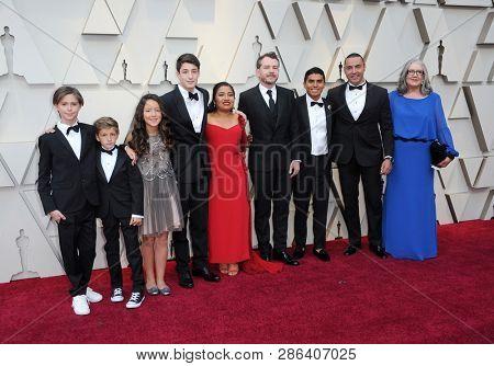Carlos Peralta, Marco Graf, Daniela Demesa, Diego Cortina Autrey, Fernando Grediaga and Jorge Antonio Guerrero at the 91st Annual Academy Awards held in Los Angeles, USA on February 24, 2019.