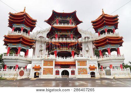 Keelung, Taiwan. Zhupu Altar - Landmark Of Keelung Ghost Festival.