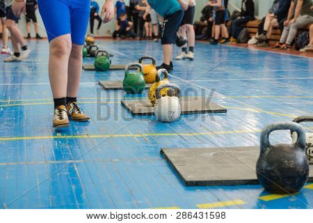 Weights For Sports. Round Weights For Lifting Athletes. Weightlifting. Sports For Men.