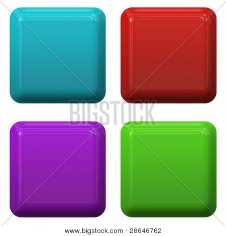 3D rendered button templates