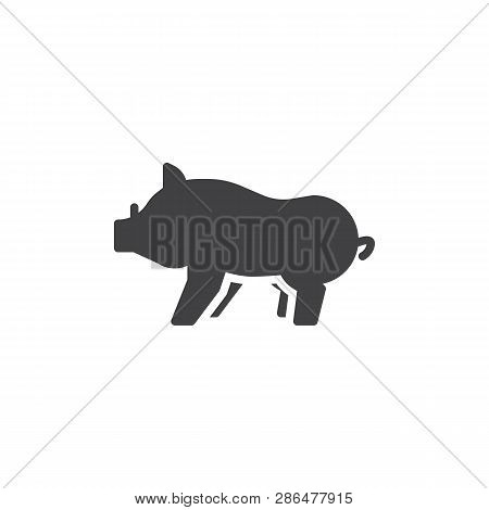 Boar side view vector icon. filled flat sign for mobile concept and web design. Wild boar with tusks glyph icon. Forest animal symbol, logo illustration. Pixel perfect vector graphics poster