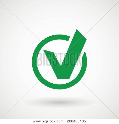 Chek, Ok, Yes Icon Approved Vector Illustration. Check Mark Icon On White Background. Vector Illustr