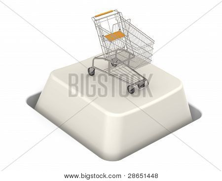 Button With Shopping Cart