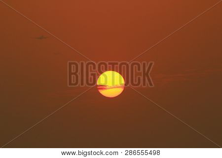 The Sea At Sunset. Amazing Sea Sunset.