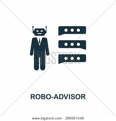Robo-advisor Icon. Creative Element Design From Fintech Technology Icons Collection. Pixel Perfect R