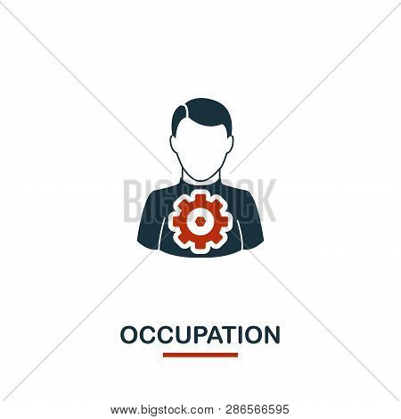 Occupation Icon. Premium Style Design From Teamwork Icon Collection. Ui And Ux. Pixel Perfect Occupa